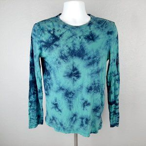 American Eagle Men's Long Sleeve T-shirt Tie Dye S
